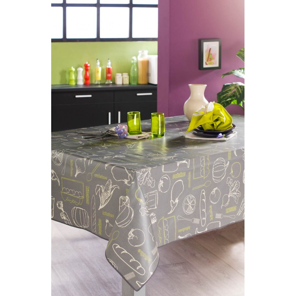 nappe plastifiee ovale cm with nappe pour table ovale nydel. Black Bedroom Furniture Sets. Home Design Ideas