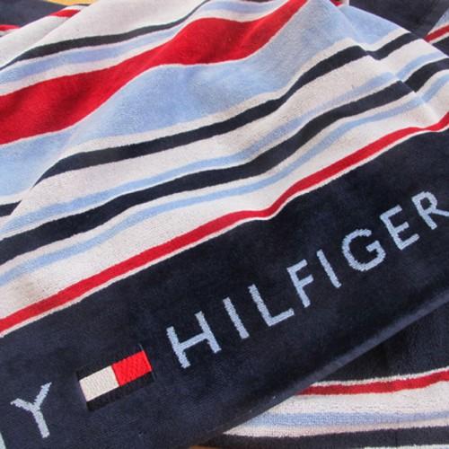 DRAP DE PLAGE ICONIC NAVY - TOMMY HILFIGER