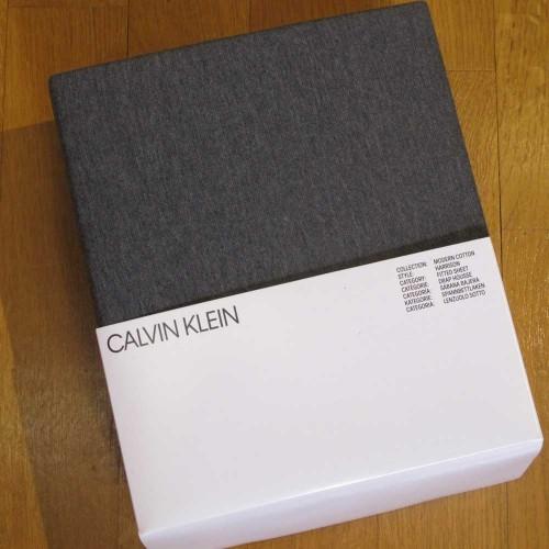 DRAP HOUSSE JERSEY HARRIS CHARCOAL - CALVIN KLEIN